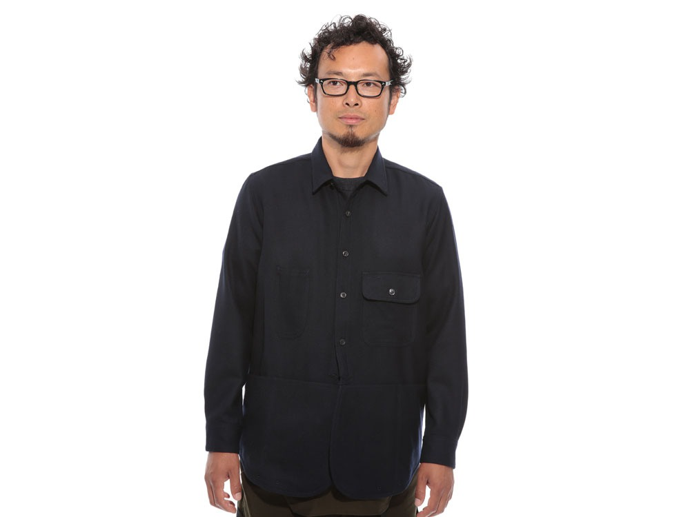 Field Wool Shirt L Grey2