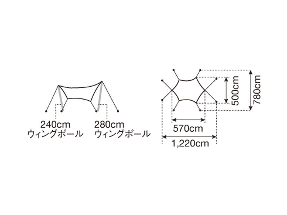 "HDタープ""シールド""・ヘキサ(L)"