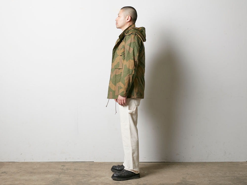 Printed Military Jacket L Khaki2