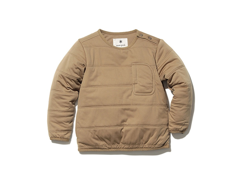Kids Flexible Insulated Pullover 2 Brown