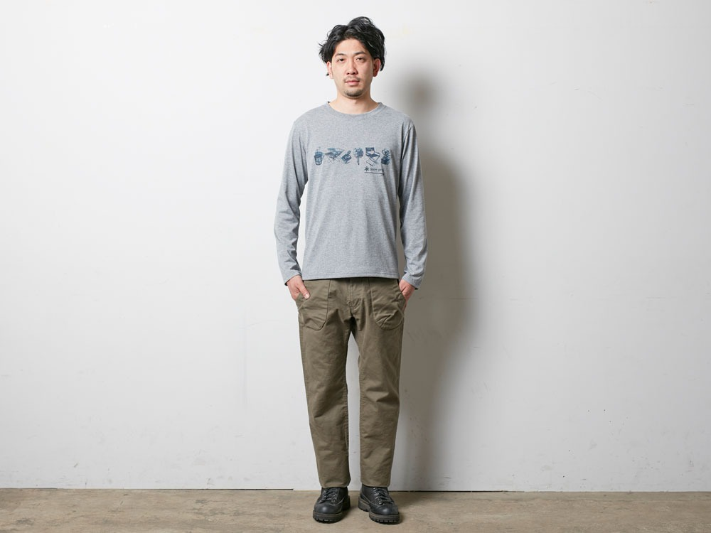 SP Gear Long Tshirt M Melange Grey1