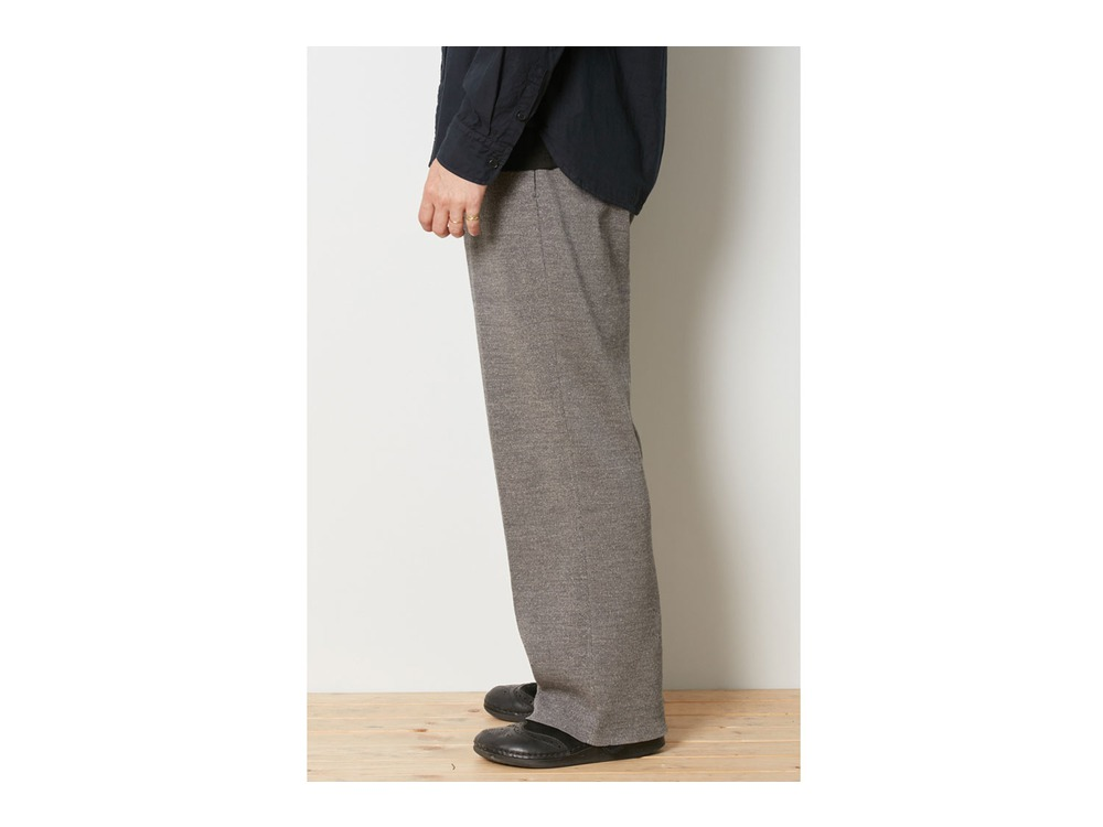 Wool Linen/Pe Pants Wide  1 Black