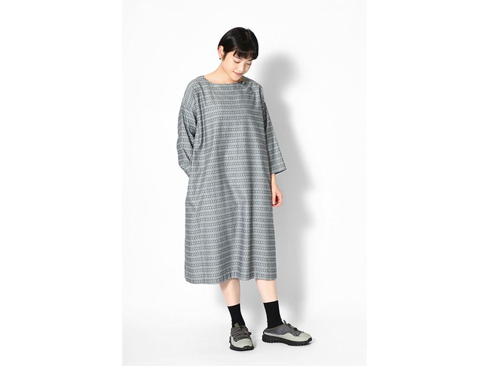 Cotton Dobby Dress 1 Brown