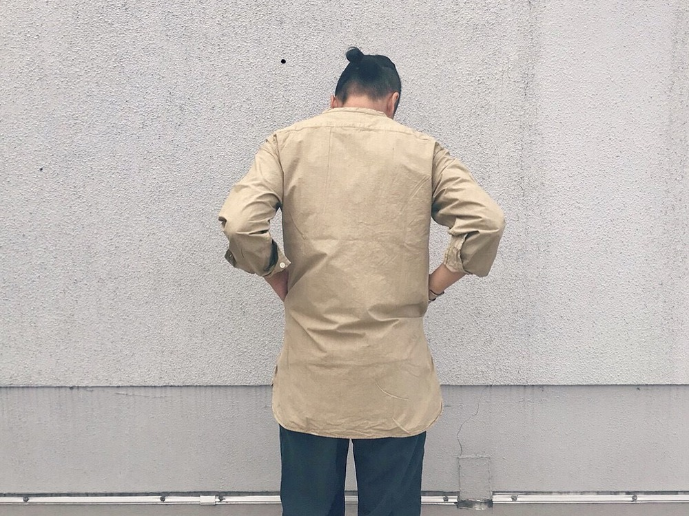 オーガニックコットンスリーピングシャツ S エクリュ