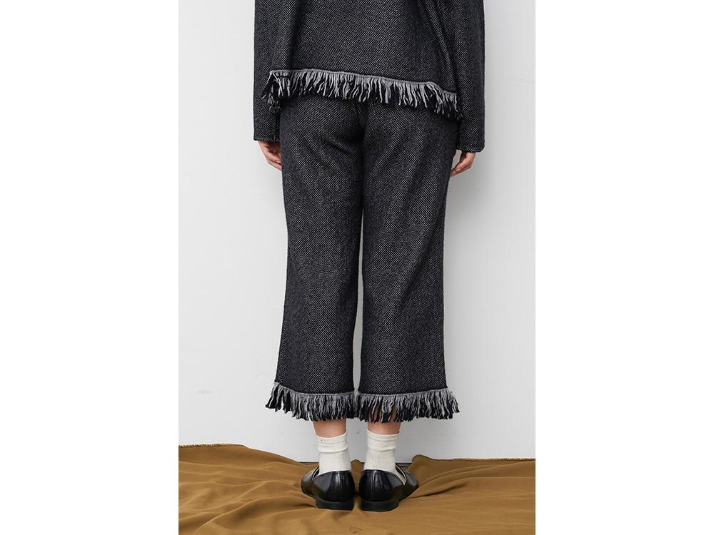 Fringe Knit Pants 2 Grey
