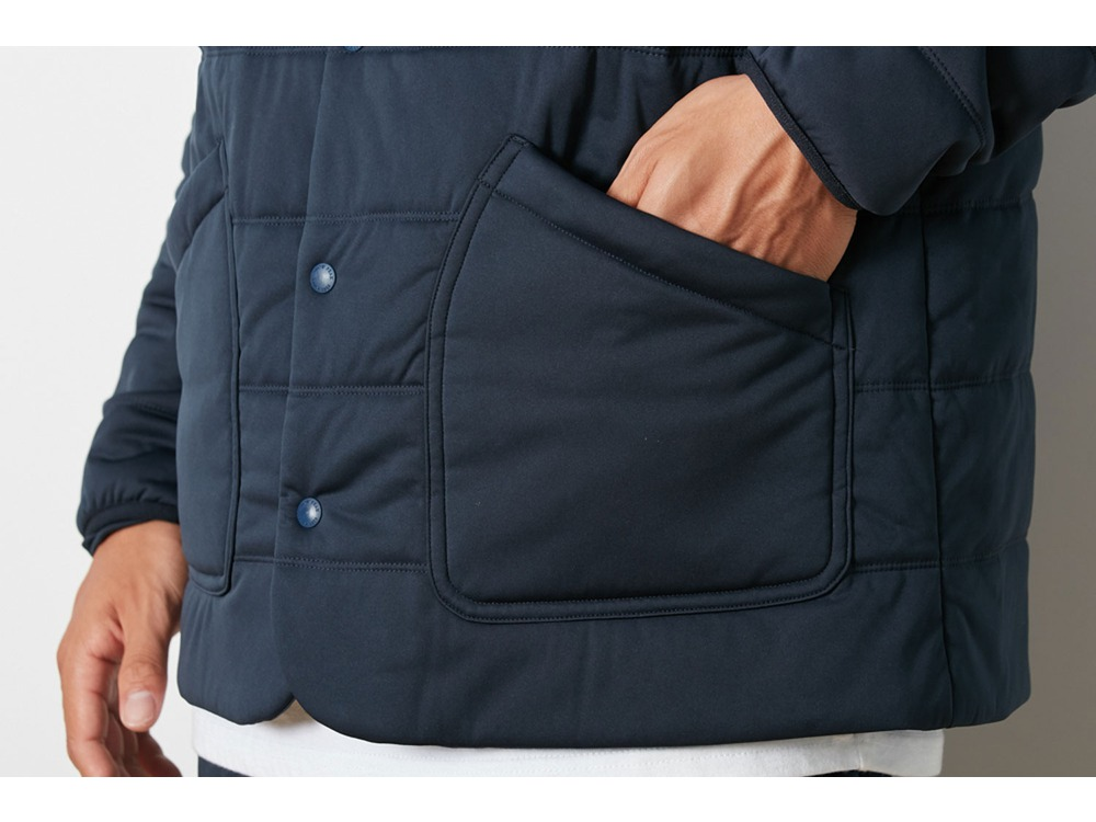 Flexible Insulated Cardigan XL Navy