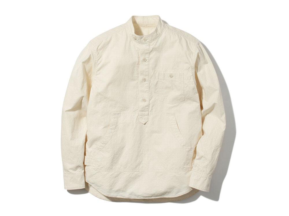 Organic Rip Stop Shirt S Ecru0