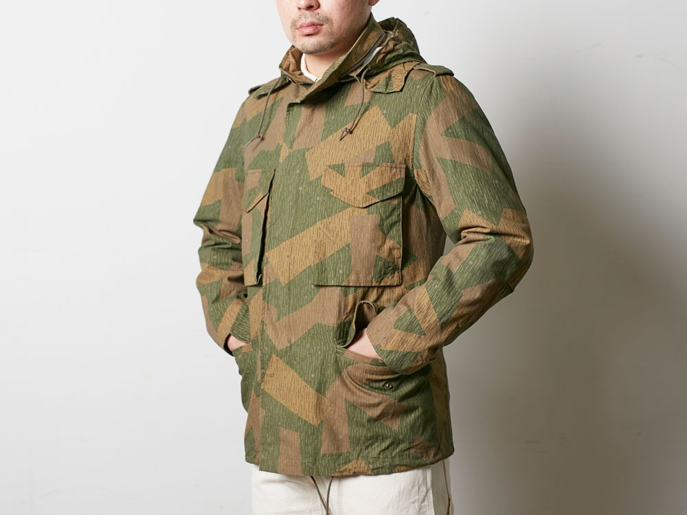 Printed Military Jacket L Khaki4
