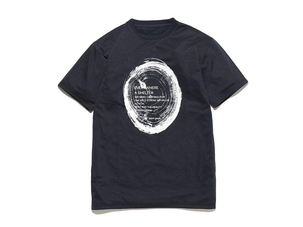 Printed Tshirt:Woodcut 2 Navy0