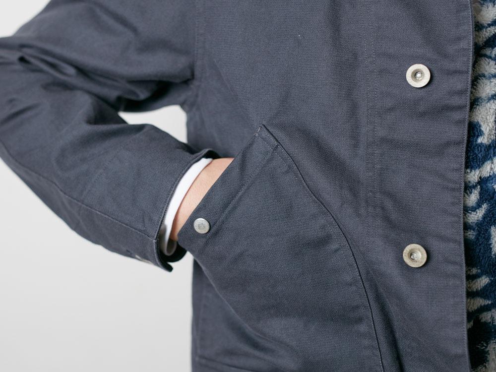 TAKIBI Shop Coat S Navy7