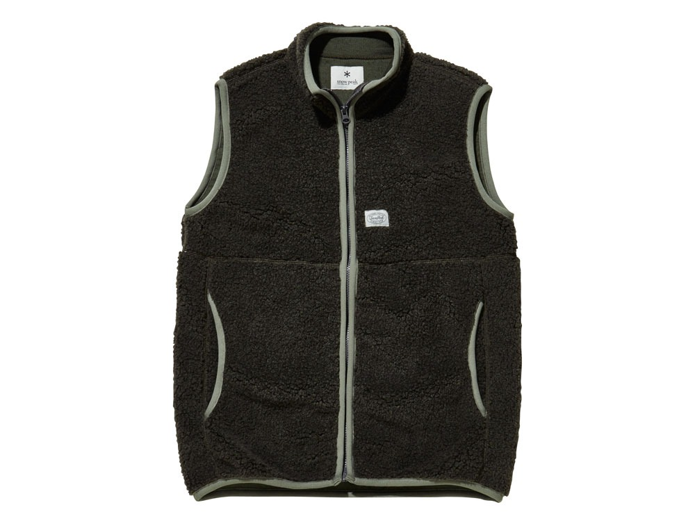 Soft Wool Fleece Vest L Olive0