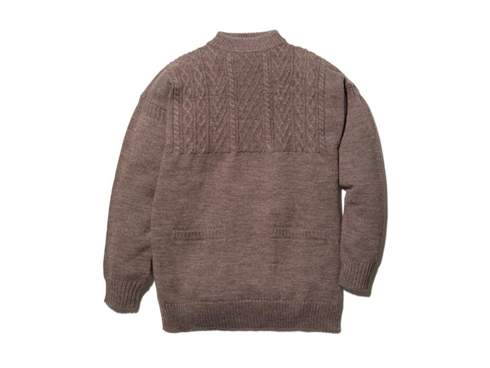 Shetland Guernsey Knit Pullover L BR