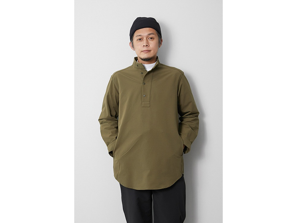 Nylon Power Wool Long Shirt M Beige