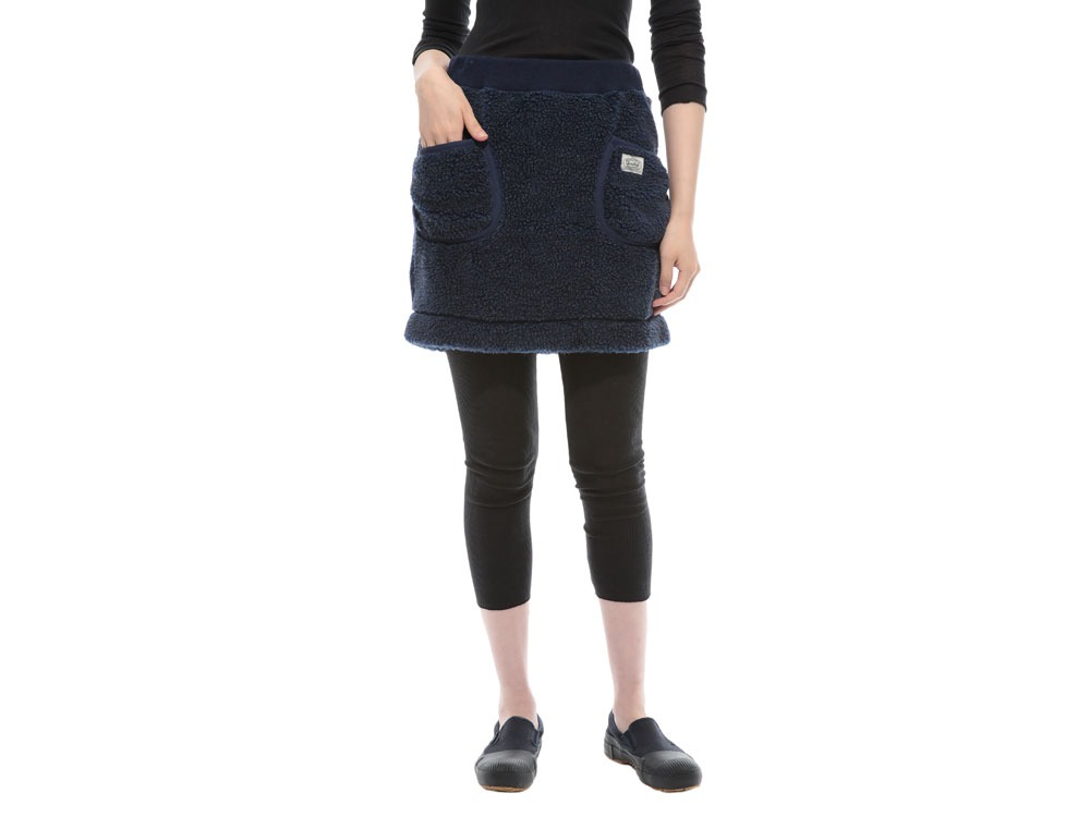 Soft Wool Fleece Skirt 3 Charcoal2