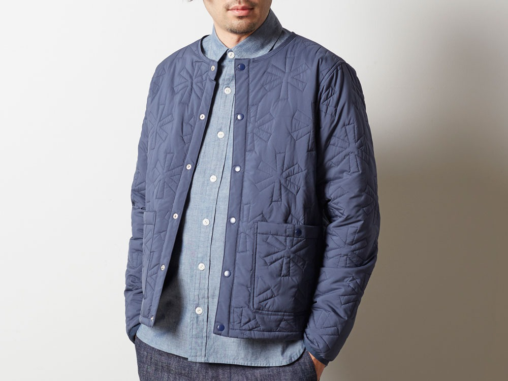 Quilting puff Jacket L Navy4