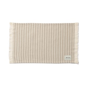 Cotton Herringbone Stripe Table Mat One BG