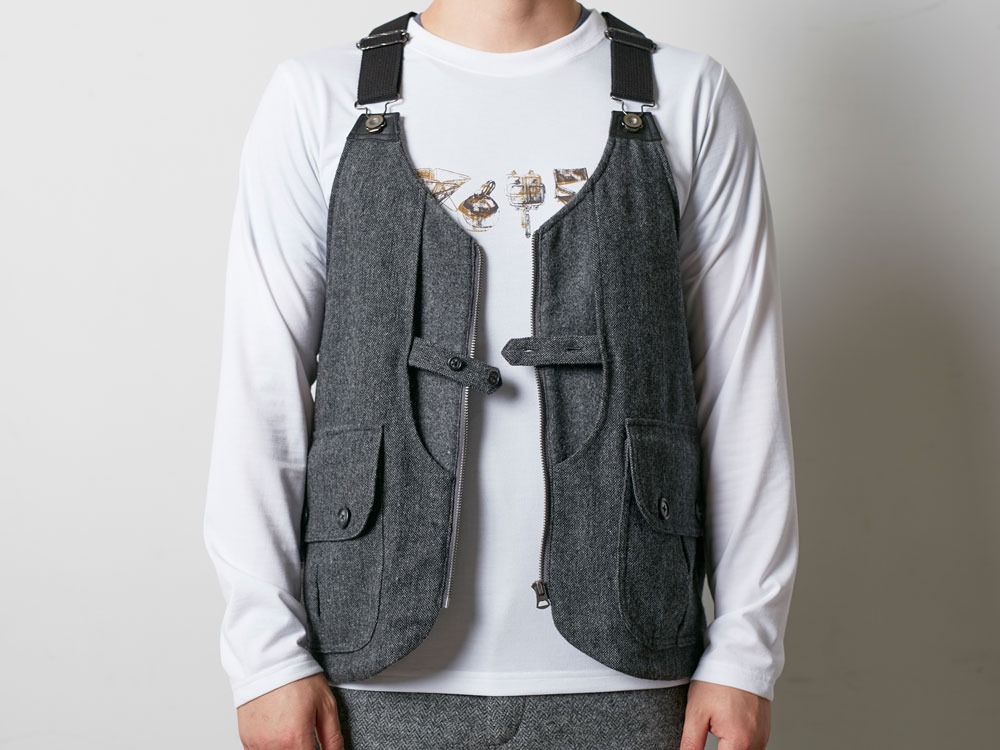 Wool TAKIBI Vest L Brown1