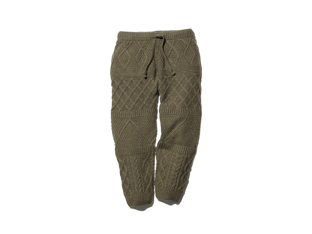Alpaca Knit Pants M Olive
