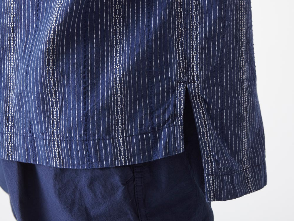 Dobby Striped Pullover M Navy7