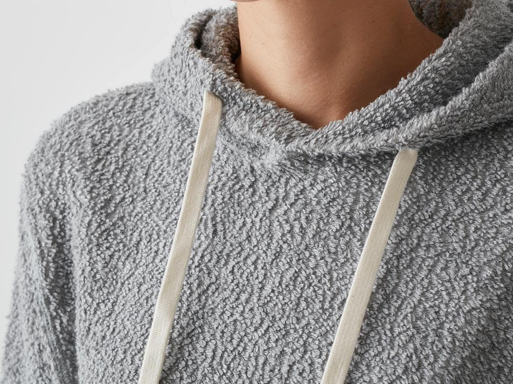 Long Loop Sweat Hoodie XXL Grey4