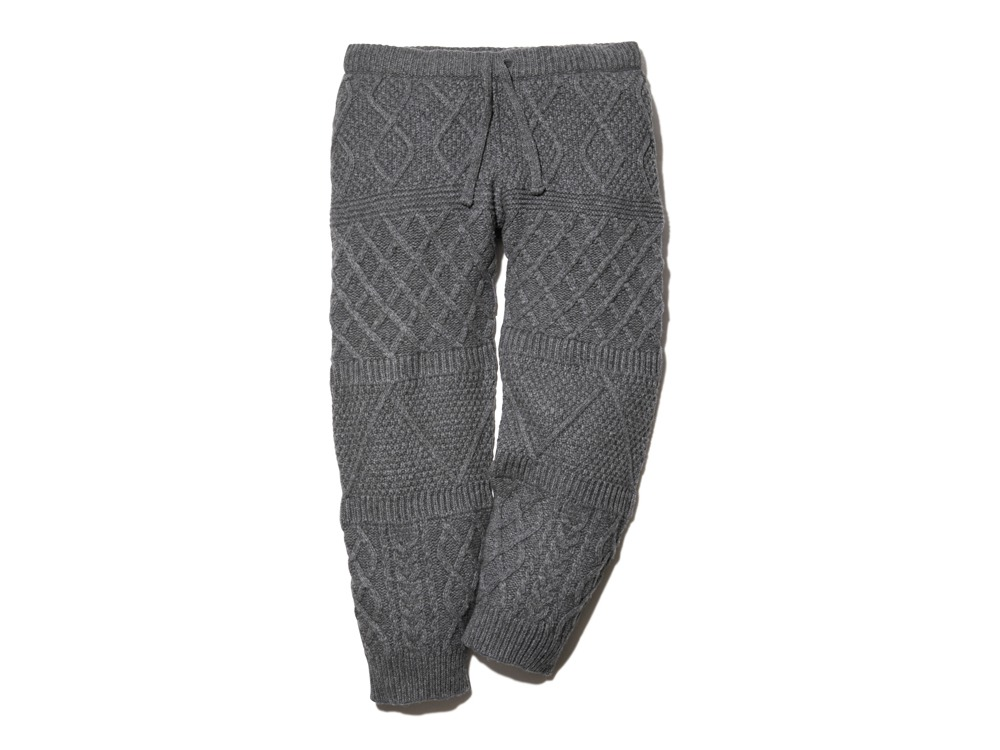 Alpaca Knit Pants M Grey