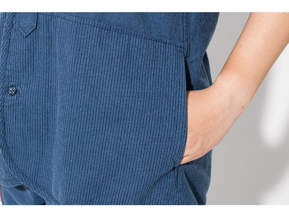 現代のワークシャツS/S XS/XXS Blue
