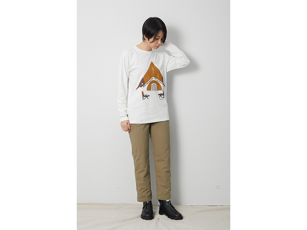 Relaxed Camping L/S Tee XL White