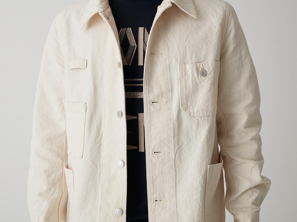 Okayama OX Work Jacket L Ecru5