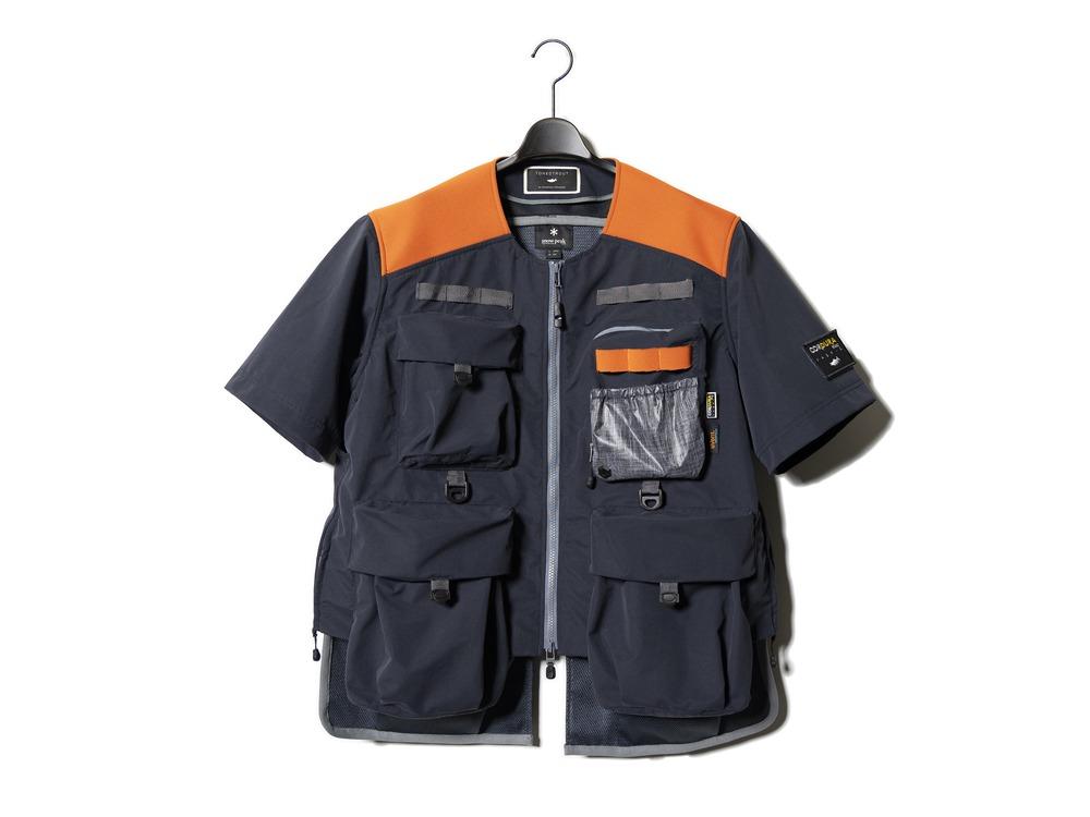 トーンドトラウト コラボ コウデュラ イーベント フィッシング ジャケット S ブラック×オレンジ