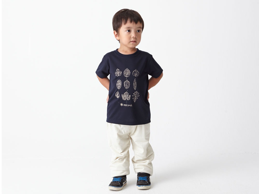 Kid's Printed Tshirt:Greenleaf 3 Navy1