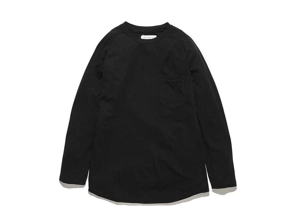 Bare Organic Smooth Raglan M Black0