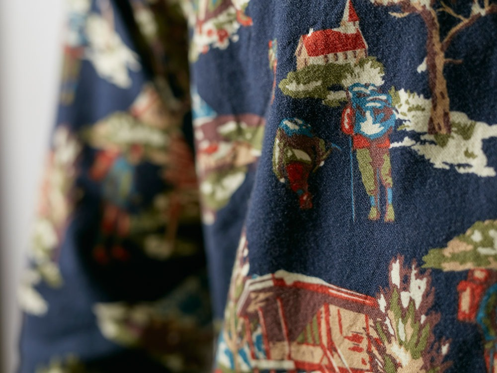 Mountain Printed Shirt 1 Navy1