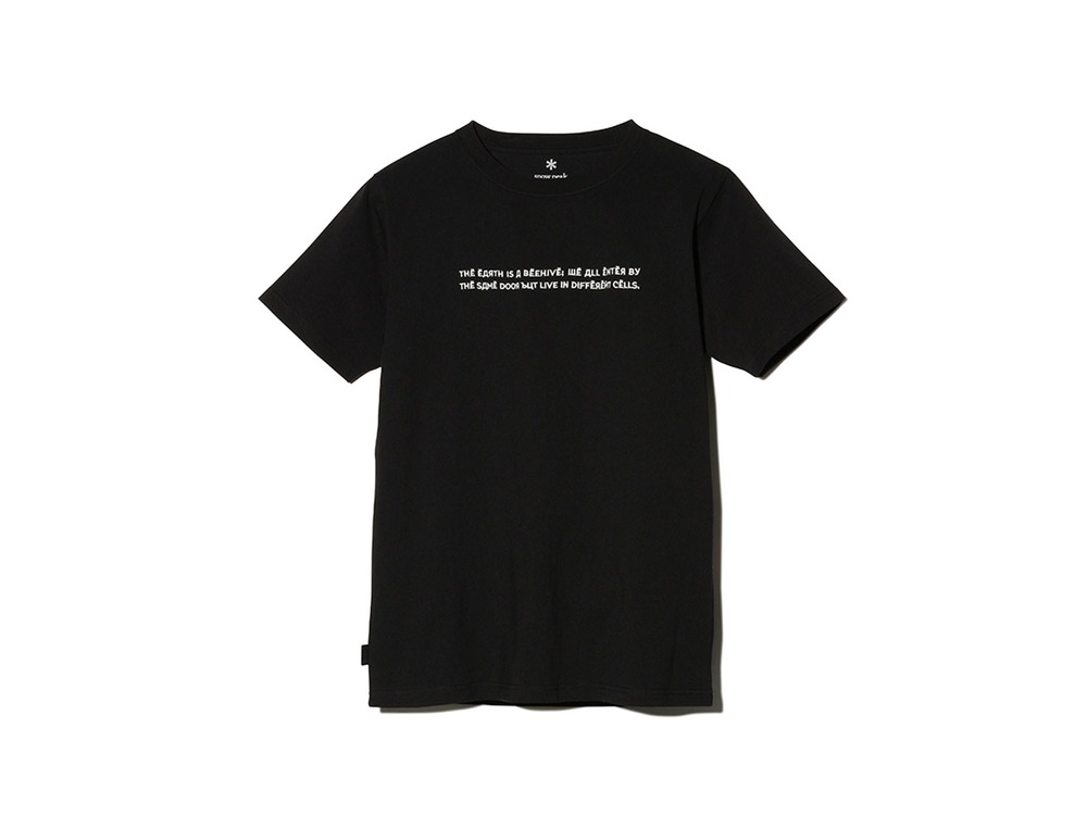 Typography Tee  S Black