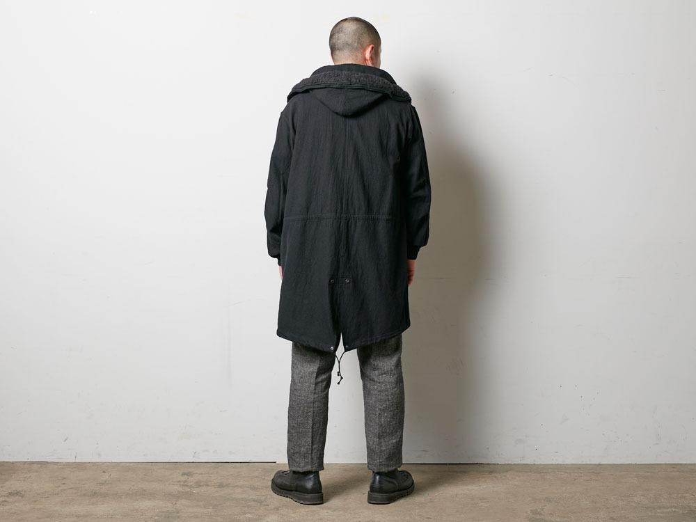 ウールミリタリーライニングコート L Black4