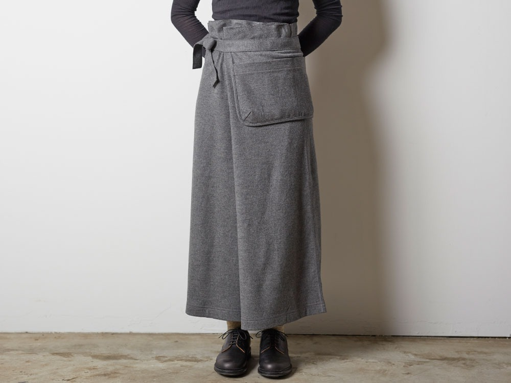 Wool Tight Knit Skirt 3 Grey2