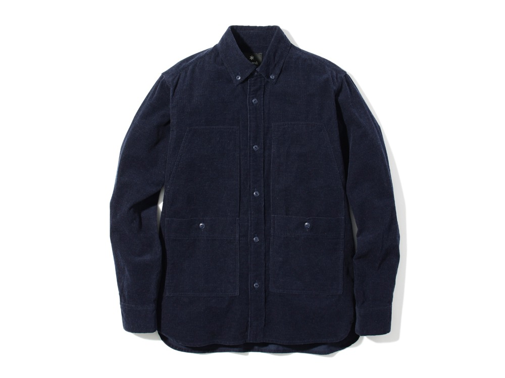 Camping Corduroy Shirt L Navy0