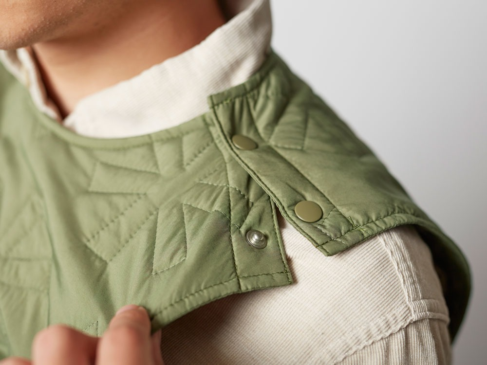 Quilting puff Vest 2 Olive9