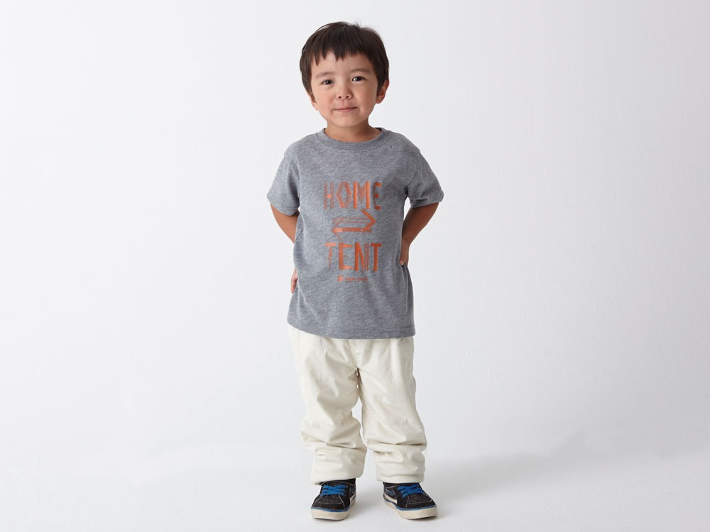 Kid's Printed Tshirt:HomeTent 3 White1