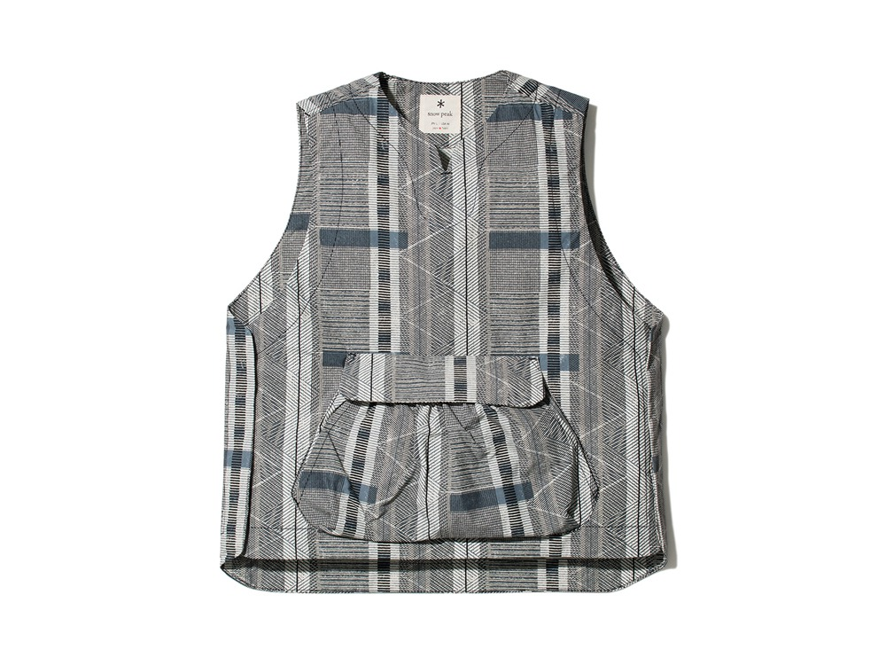 Printed Proof Canvas Vest XL EcruNavy