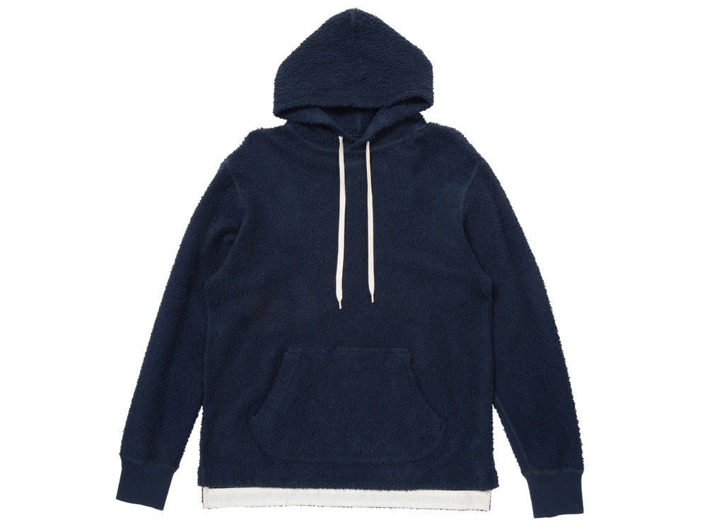 Long Loop Sweat Hoodie 2 Navy0