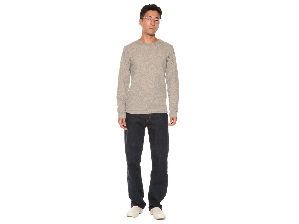 Yak/Cotton Double Knit Long Sleeve S M.Grey1