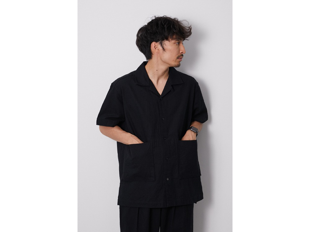 C/L Panama Shirt L Black