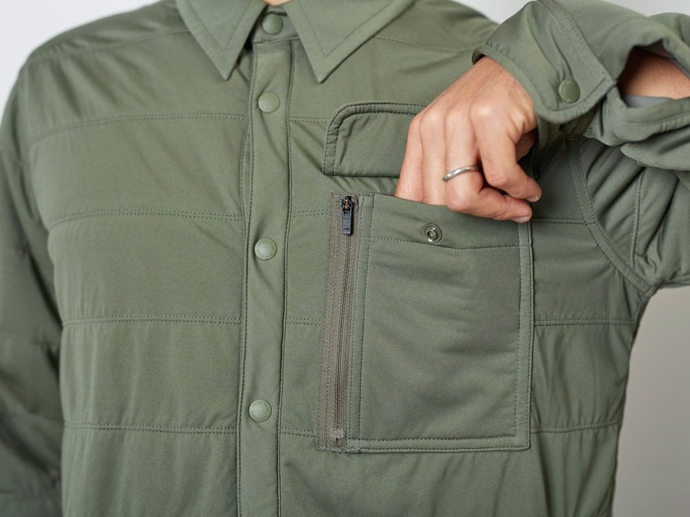 FlexibleInsulatedShirt  L Olive4
