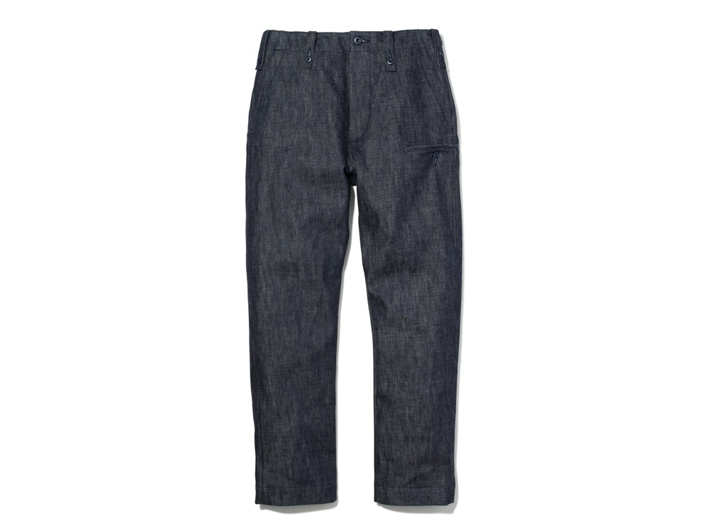 Denim Military Pants1Indigo