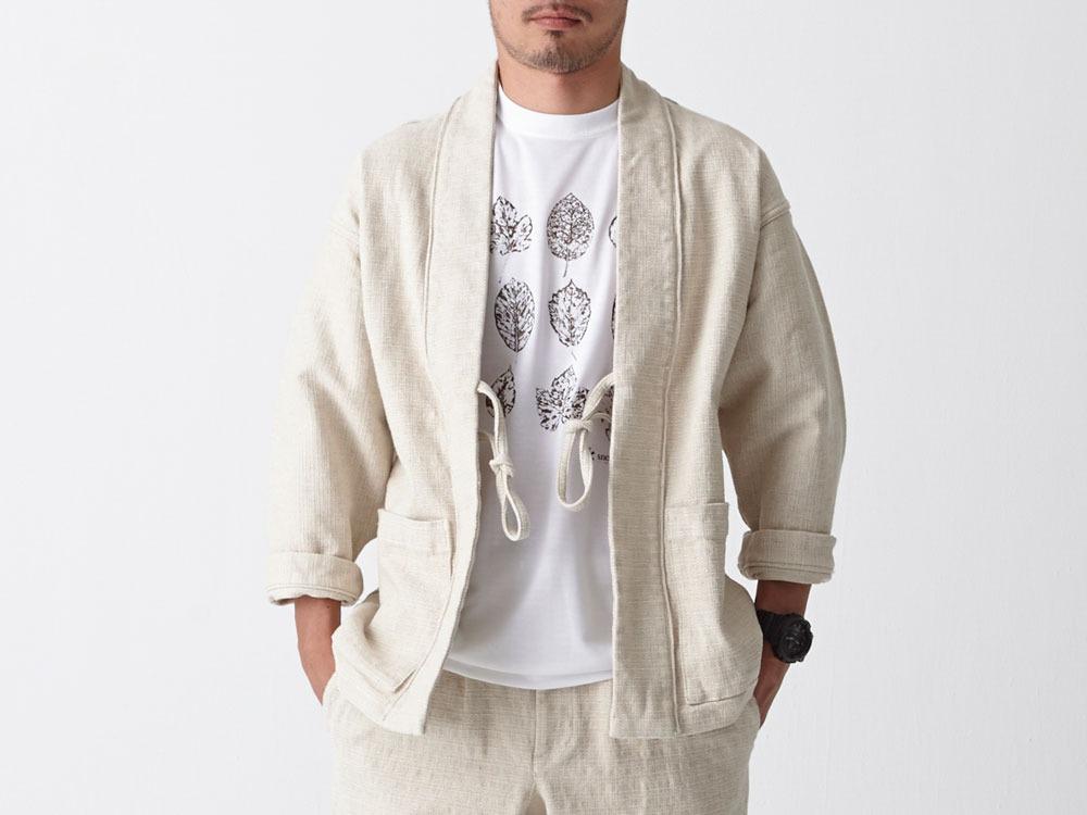 Linen HAORI Jacket S Ecru0
