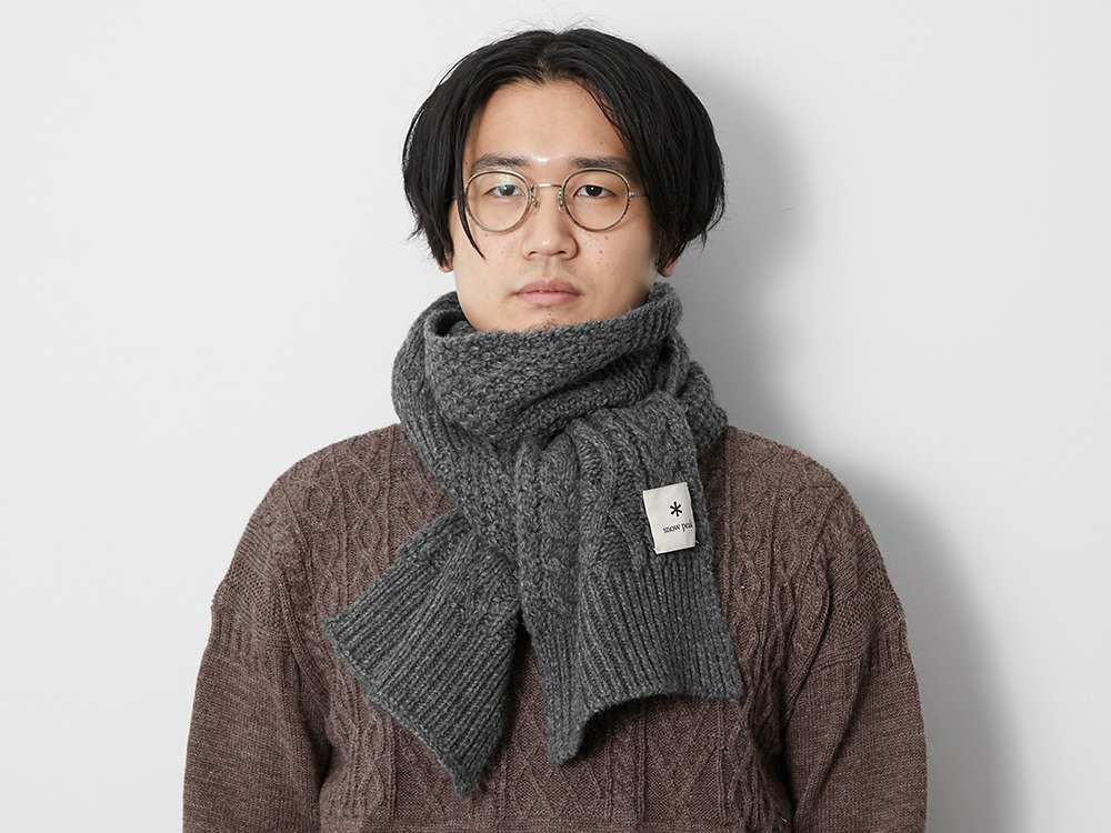 Alpaca Knit Stole One Ecru