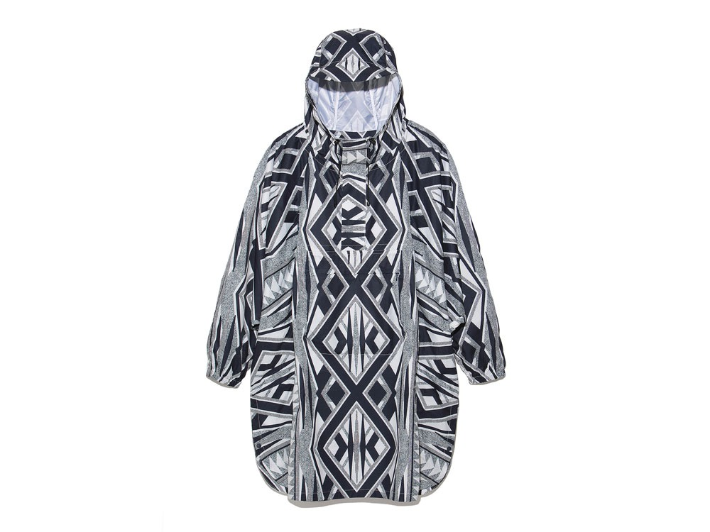 Printed Poncho:Solid Landscape 1 Navy0