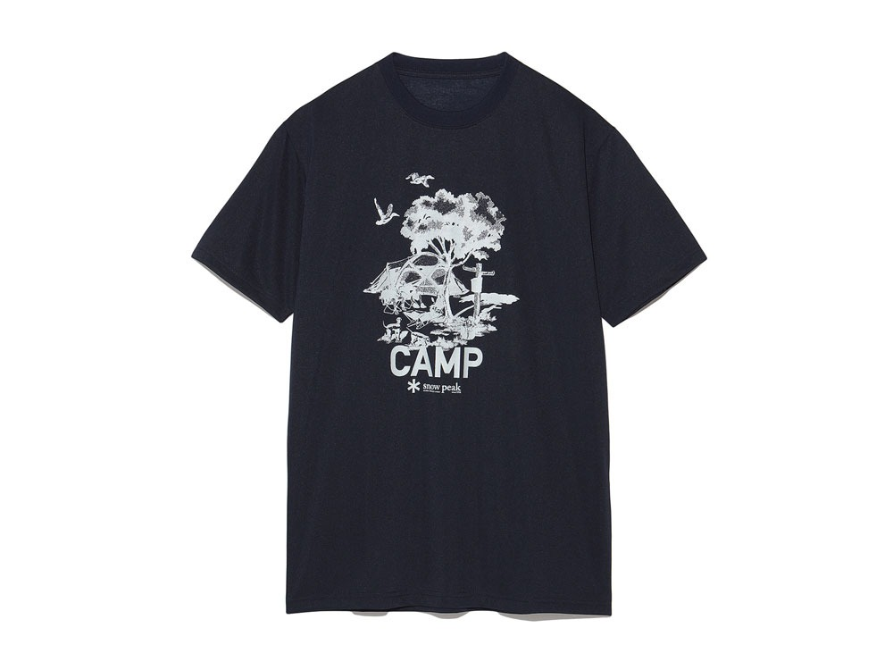 Printed Tshirt:Camp Field S Navy0