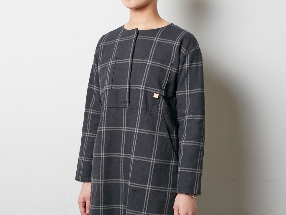 W's Check Heavy Flannel Dress 1 Beige4
