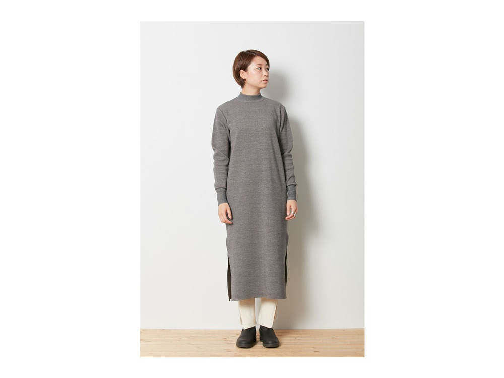 Wool Linen/Pe Dress 4 Grey